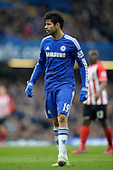 Diego Costa of Chelsea looking on. Barclays Premier league match, Chelsea v Southampton at Stamford Bridge in London on Sunday 15th March 2015.<br /> pic by John Patrick Fletcher, Andrew Orchard sports photography.