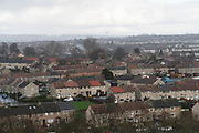 General view over Kirkcaldy housing estates<br /><br />Kirkcaldy is one of the poorest areas in Scotland with staggeringly high numbers of child poverty. Many disadvantaged families, and vulnerable people, and over a thousand children are surviving below the breadline in Kirkaldy East, that is 40%. Voluntary organisations and foodbanks give over a thousand food parcels a month, several times more than a few years ago. The Conservative government's policy of austerity together with the new 'Universal Credit' system which replaced six other benefits, makes millions of people poorer, many hundreds of thousands on the poverty line or below. Whilst people overall voted strongly against Brexit in Scotland, in other parts of the country, poorer constituencies voted largely for Brexit, in a vote against the City of London.