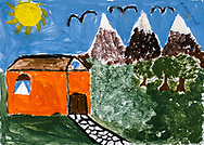 """""""Home"""" by Mohammad, age 15, from Bamiyan, Afghanistan."""