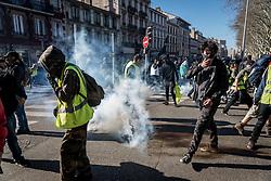 March 30, 2019 - Saint Etienne, France - Regional rally on the occasion of the twentieth day of mobilisation of the Yellow Vests in Saint Etienne, France, on 30 March 2019. (Credit Image: © Nicolas Liponne/NurPhoto via ZUMA Press)