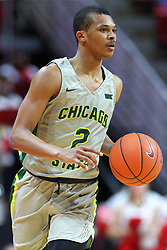 NORMAL, IL - November 13: Delshon Strickland during a college basketball game between the ISU Redbirds  and the Chicago State Cougars on November 13 2018 at Redbird Arena in Normal, IL. (Photo by Alan Look)