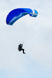 A para glider flies from the hills around Mam Tor in the Hope Valley <br />  11 October 2015<br />   Image © Paul David Drabble <br />   www.pauldaviddrabble.co.uk