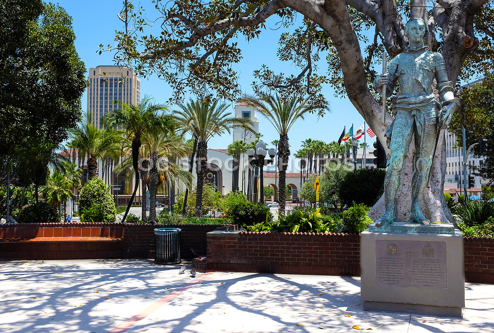 Carlos III Statue At Los Angeles Plaza Historic District