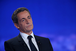 File photo - Nicolas Sarkozy during the televised debate on TF1 debate about social issues for the French presidential election in Saint Denis, France on October 13, 2016. A French judge has ordered ex-President Nicolas Sarkozy to stand trial in an illegal campaign finance case. Mr Sarkozy faces accusations that his party falsified accounts in order to hide 18m euros of campaign spending in 2012. Mr Sarkozy denies he was aware of the overspending, and will appeal against the order to stand trial. Photo by Alain Robert/ABACAPRESS.COM