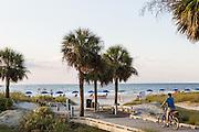 Entrance to Coligny Circle Public Beach on Hilton Head Island, SC