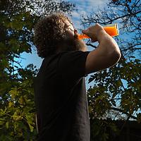 Burly Beverages creator  Gabriel Aiello photographed Wednesday, November 24, 2015 in Sacramento, Calif.  The health-conscious Aiello makes craft, small batch, natural sodas and soft drinks.