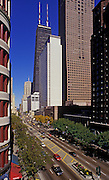 Image of Magnificent Mile along North Michigan Avenue in Chicago, Illinois, American Midwest by Randy Wells