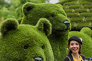 Animals made of Easygrass - The Chelsea Flower Show organised by the Royal Horticultural Society with M&G as its MAIN sponsor for the final year. London 23 May, 2017