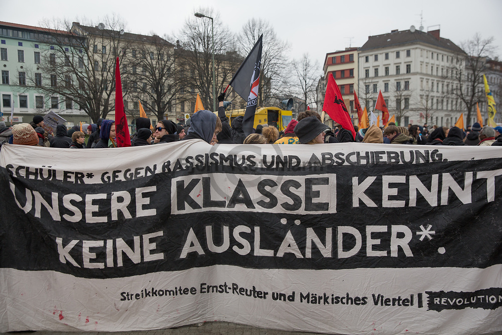 """Berlin, Germany - 21.03.2015 <br /> <br /> On the occasion of the international day against racism more than 2000 people protested in Berlin under the slogan """"my right is your right"""".<br /> <br /> Anlaesslich des internationalen Tag gegen Rassismus protestierten in Berlin mehr als 2000 Menschen unter dem Motto """"my right is your right"""".<br /> <br /> Photo: Bjoern Kietzmann"""