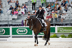 Ashley Gowanlock, (CAN), Ferdonia 2 - Individual Test Grade Ib Para Dressage - Alltech FEI World Equestrian Games™ 2014 - Normandy, France.<br /> © Hippo Foto Team - Jon Stroud <br /> 25/06/14