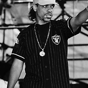 STANHOPE - AUGUST 01: Ice-T performs on August 01, 1991 during Lollapalooza in Waterloo Village Stanhope, New Jersey. ©Lisa Lake