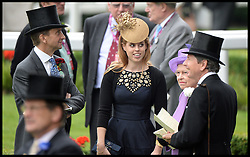 Princess Beatrice in the parade ring at Royal Ascot 2013 Ascot, United Kingdom,<br /> Thursday, 20th June 2013<br /> Picture by Andrew Parsons / i-Images