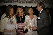 CHRISTINA GOULANDRIS, SABINA MCTAGGART, AND MRS. STEFANO MARSAGLIA, Cartier dinner in the Chelsea Physic Garden. 22 May 2006. ONE TIME USE ONLY - DO NOT ARCHIVE  © Copyright Photograph by Dafydd Jones 66 Stockwell Park Rd. London SW9 0DA Tel 020 7733 0108 www.dafjones.com
