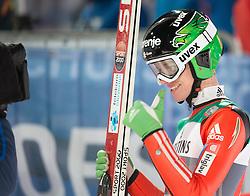 06.01.2015, Paul Ausserleitner Schanze, Bischofshofen, AUT, FIS Ski Sprung Weltcup, 63. Vierschanzentournee, Finale, im Bild Matjaz Pungertar (SLO) // Matjaz Pungertar of Slovenia reacts after his first Final Jump of 63rd Four Hills Tournament of FIS Ski Jumping World Cup at the Paul Ausserleitner Schanze, Bischofshofen, Austria on 2015/01/06. EXPA Pictures © 2015, PhotoCredit: EXPA/ Johann Groder