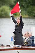 Henley Royal Regatta, Henley on Thames, Oxfordshire, 29 June-3 July 2015.  Wednesday  09:44:59   29/06/2016  [Mandatory Credit/Intersport Images]<br /> <br /> Rowing, Henley Reach, Henley Royal Regatta.<br /> <br /> Miss S K Winckless, MBE, Umpire