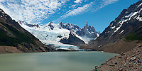 Laguna Torre Panorama. Composite of 4 images from a Nikon D3x and 50 mm f/1.4G lens (ISO 100, f/11, 1/40 sec) combined using AutoPano Giga Pro.