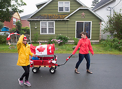 Participants walk through town in the Canada 150 children's parade in Lockeport, N.S. on Saturday, July 1, 2017. Lockeport is a traditional Nova Scotia fishing town on the province's South Shore and was founded in 1762. Photo by Andrew Vaughan/CP/ABACAPRESS.COM