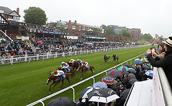 Great Dame (left) riden by Daniel Tudhope wins The Stellar Group Lily Agnes Conditions Stakes, during Boodles City Day at Chester Racecourse, Chester.