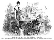 "The bitter cry of the modish flapper. Typist. ""I'm afraid I must ask for an additional electric stove in my room, sir. The cold there is intense."""