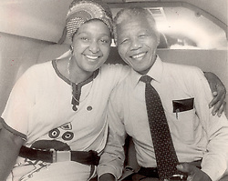 Nelson Mandela & Winnie Mandela together in the back of the car in 1990.