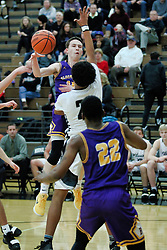 18 January 2019: Boys Basketball game between the Bloomington Raiders and the Normal West Wildcats in Normal Community West High School, Normal IL
