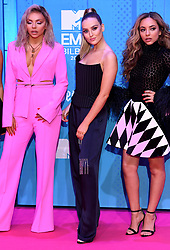 Jesy Nelson, Perrie Edwards and Jade Thirlwall of Little Mix attending the MTV Europe Music Awards 2018 held at the Bilbao Exhibition Centre, Spain
