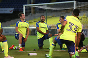 Derby players warm down post match during the Pre-Season Friendly match between Port Vale and Derby County at Vale Park, Burslem, England on 18 July 2017. Photo by John Potts.