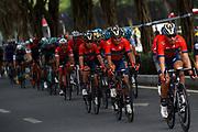 Yukiya Arashiro (JPN - Bahrain - Merida) during the Tour of Guangxi 2018, Stage 3, Nanning - Nanning (125,4 km) on October 18, 2018 in Nanning, China - photo Luca Bettini / BettiniPhoto / ProSportsImages / DPPI