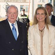 NLD/Scheveningen/20180630 - Koning bij Award Diner Volvo Ocean Race, Koning Juan Carlos en dochter Prinses Elena