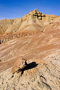 Badlands in the Bighorn Basin of Wyoming