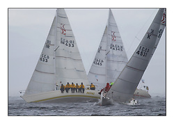 Yachting- The second start of the Bell Lawrie Scottish series 2002 at Inverkip racing to Tarbert Loch Fyne where racing continues over the weekend.<br /><br />St Joan K4531 and Pepsi IRL633 in the sigma 33 Class Winner<br /><br />Pics Marc Turner / PFM