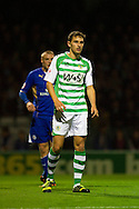 Edward Upson of Yeovil Town looks on during the Skybet Championship match, Yeovil Town v Leicester City at Huish Park Stadium in Yeovil on Tuesday 1st October 2013. Picture by Sophie Elbourn, Andrew Orchard Sports Photography,