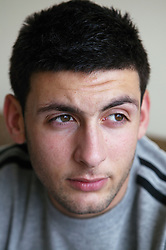 Portrait of a young man; model released for use in HIV and Aids,