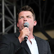 Ryan Philpott is an actor and a presenter at Kew The Music Festival 2018 Day 5 and watch BOYZONE, NADINE COYLE  and Rothwell in Kew Garden on 14 July 2018, London, UK.