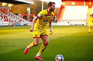 James Clarke of Walsall during the EFL Sky Bet League 2 match between Stevenage and Walsall at the Lamex Stadium, Stevenage, England on 20 February 2021.
