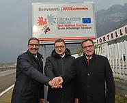 inaugurazione cartello di benvenuto Euregio - Hofer  19-02-2020