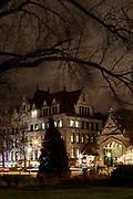 University of Chicago campus at dusk.