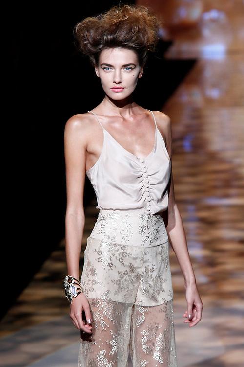 Models walk the runway for Badgley Mischika Spring 2012 fashion show during New York Fashion Week, NYC, NY, USA. 13/09/2011 Kevin Kane/CatchlightMedia