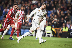 January 24, 2019 - Madrid, Spain - Sergio Ramos (defender; Real Madrid) in action during Copa del Rey, Quarter Final match between Real Madrid and Girona FC at Santiago Bernabeu Stadium on January 24, 2019 in Madrid, Spain (Credit Image: © Jack Abuin/ZUMA Wire)