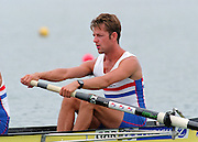 St Catherines, CANADA,  Men's Lightweight Four, .GBR LM 4-. John WARNOCK,  competing at the 1999 World Rowing Championships - Martindale Pond, Ontario. 08.1999...[Mandatory Credit; Peter Spurrier/Intersport-images]  .. 1999 FISA. World Rowing Championships, St Catherines, CANADA