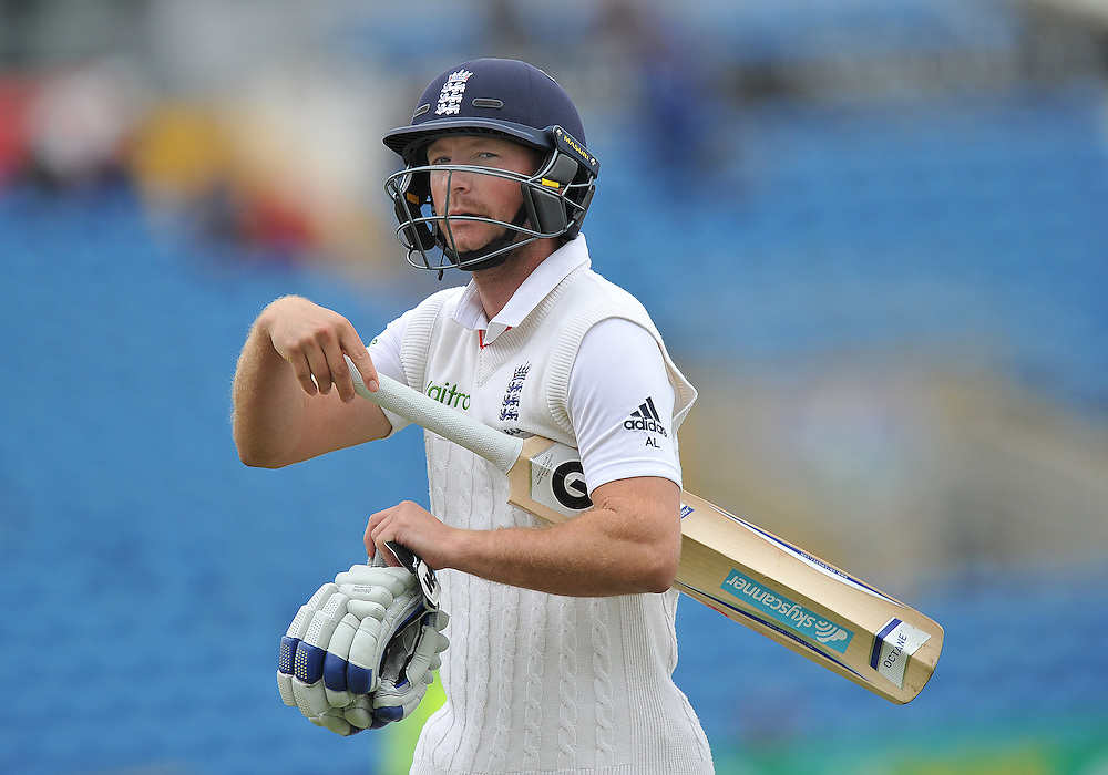 England's Adam Lyth looks dejected after being caught off the bowling of New Zealand's Trent Boult for 24<br /> <br /> Photographer Dave Howarth/CameraSport<br /> <br /> International Cricket - 2nd Investec Test Match - England v New Zealand - Day 5 - Tuesday 2nd June 2015 - Headingley Cricket Ground, Leeds<br /> <br /> © CameraSport - 43 Linden Ave. Countesthorpe. Leicester. England. LE8 5PG - Tel: +44 (0) 116 277 4147 - admin@camerasport.com - www.camerasport.com