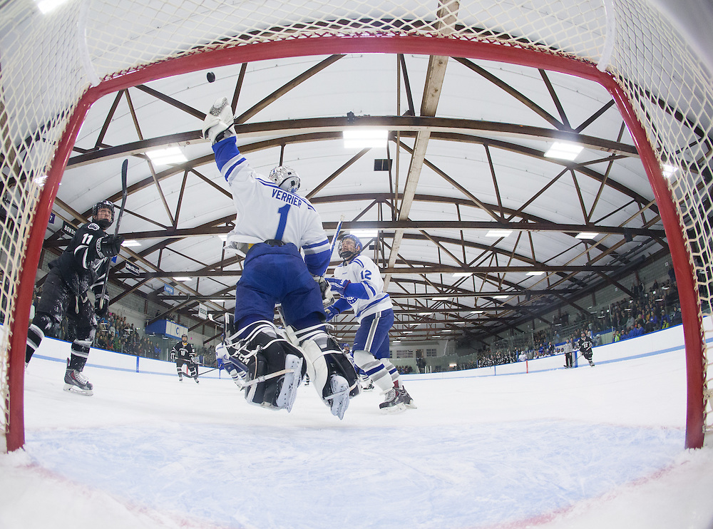 Emerson Verrier, of Colby College, in a NCAA Division III hockey game against Bowdoin College on November 22, 2014 in Waterville, ME. (Dustin Satloff/Colby College Athletics)