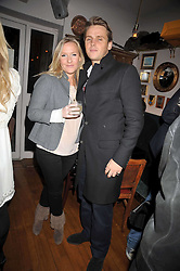 LUCY MYNERS and OLIVER MURRAY at a party for Glenmorangie hosted at Barts,  Sloane Avenue, London on 26th March 2009.