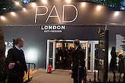 Collector's preview of PAD. Berkeley Sq. London. 8 October 2012.
