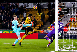 Matt Doherty of Wolverhampton Wanderers heads over the bar - Mandatory by-line: Robbie Stephenson/JMP - 11/02/2019 - FOOTBALL - Molineux - Wolverhampton, England - Wolverhampton Wanderers v Newcastle United - Premier League