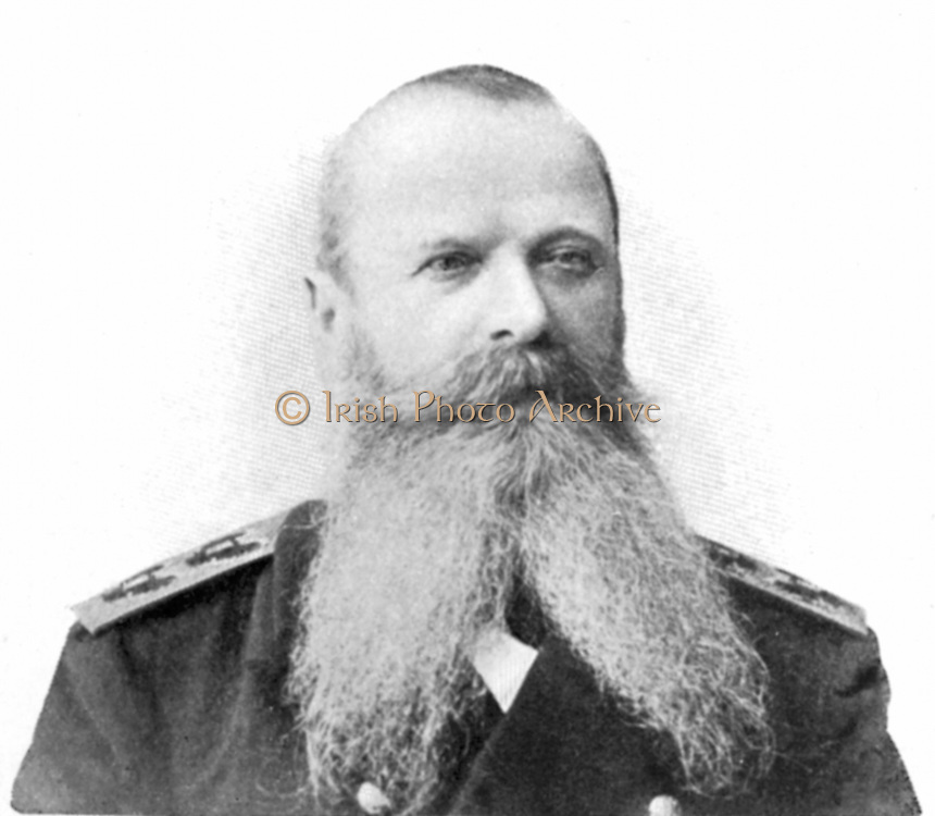 Stepan Osipovich Makarov or Makharoff (1849-1904) Russian admiral in command of Pacific fleet at beginning of Russo-Japanese War (1904-1905). Killed when his flagship 'Petropavlosk' struck a mine and sank in third month of the war.