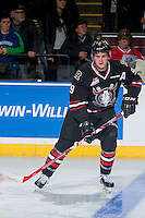 KELOWNA, CANADA - NOVEMBER 9: Conner Bleackley #9 of Team WHL warms up against the Team Russia on November 9, 2015 during game 1 of the Canada Russia Super Series at Prospera Place in Kelowna, British Columbia, Canada.  (Photo by Marissa Baecker/Western Hockey League)  *** Local Caption *** Conner Bleackley;