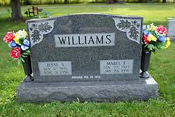 31 August 2017:   Veterans graves in Dawson Cemetery in eastern McLean County.<br /> <br /> Jesse S Williams  Nov 17 1895  Jun 9 1986