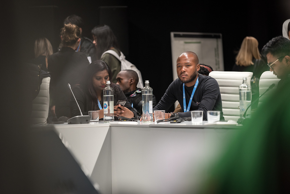 5 December 2019, Madrid, Spain: Lutheran World Federation delegate and council member Khulekani Sizwe Magwaza from the Evangelical Lutheran Church in South Africa attends the intergenerational inquiry at COP25.