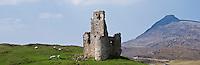 16th century ruin of Ardvreck castle, Loch Assynt, Scotland